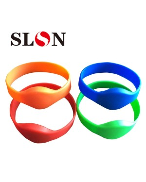 125khz RFID Wristband EM4100 Blue Red Green Orange Waterproof Silicone Bracelet