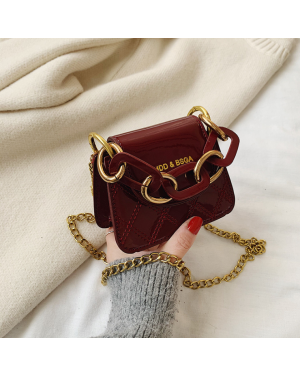 Fashion Mini Saddle Women Shoulder Bags Solid color diamond Embroidery Thread Chain Handbags Luxury Pu Leather Female Crossbody Bag Small Purse