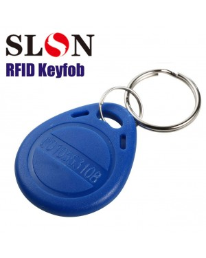Proximity 125KHz RFID EM-ID Card Tag Token Keyfob Read Only Color Blue (100 Pack)