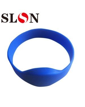 RFID Rewritable T5577 125khz Writable Silicone Wristband Black Adult Size