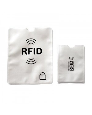 RFID Blocking Sleeves Set With Color Coding  Identity Theft Prevention RFID Blocking Envelopes By Boxiki Travel (Navy Blue) (White & Navy Blue)
