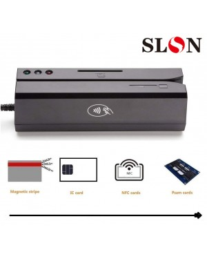 USB Magnetic Credit Card Reader - New 880 For Magstripe,IC,NFC and Psam Cards Reader and Writer, with 20 PCS Blank Cards