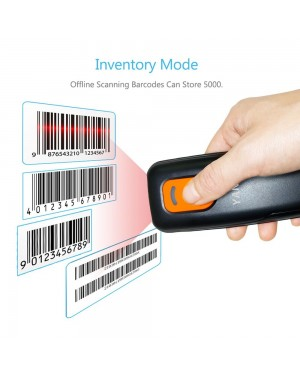 Yanzeo P1600 Portable Pocket 1D Wireless Barcode Scanner USB Bluetooth 2.4G Reader Barcode Reader