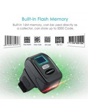 Yanzeo R1800 Bardcode Scanner 1D Ring Wearable Sacanner 2.4G Bluetooth Mini Bar Code Reader Scanner