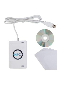 ETEKJOY ACR122U NFC RFID 13.56MHz Contactless Smart Card Reader Writer w/USB Cable, SDK, 5X Writable IC Card