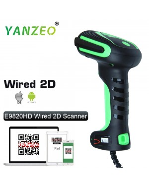 Yanzeo E9820 Handheld 2D Imaging QR Barcode Scanner HD Industry Bar Code Reader