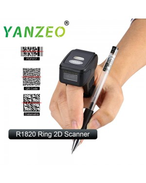 Yanzeo R1820 2D Wearable Ring Wireless Finger Mini 2.4G Bluetooth Bar Code Reader Portable Barcode Scanner