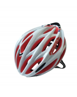ESSEN S160V Sports Safety Bicycle 25 Holes Adult Men Helmet(White+Red)